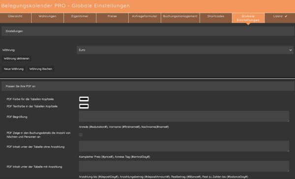 Belegungskalender für Wordpress - pro Version 6