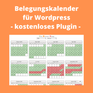 Belegungskalender WordPress kostenlos